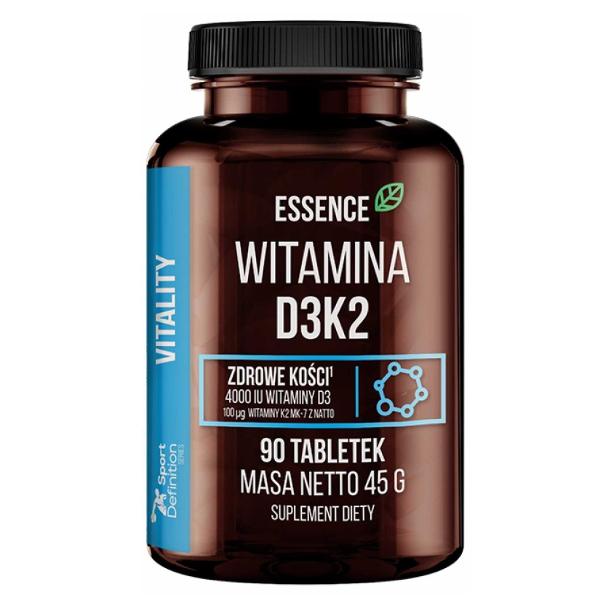 Vitamina D3 K2 MK-7 - 90 tabs - Sport Definition Essence