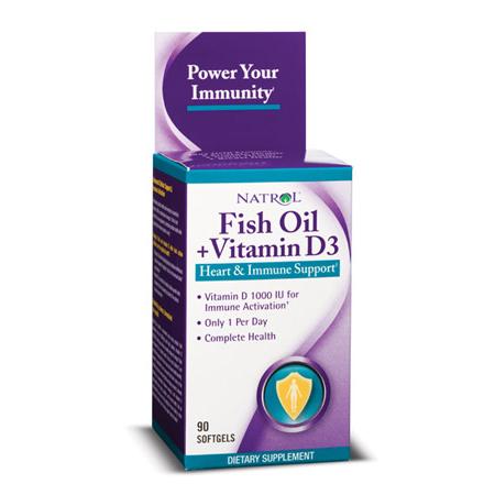 Fish oil vitamin d3 90 caps natrol boteprote for Fish oil vitamin d3