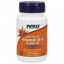 Vitamina D-3 5000 IU - 120 softgels